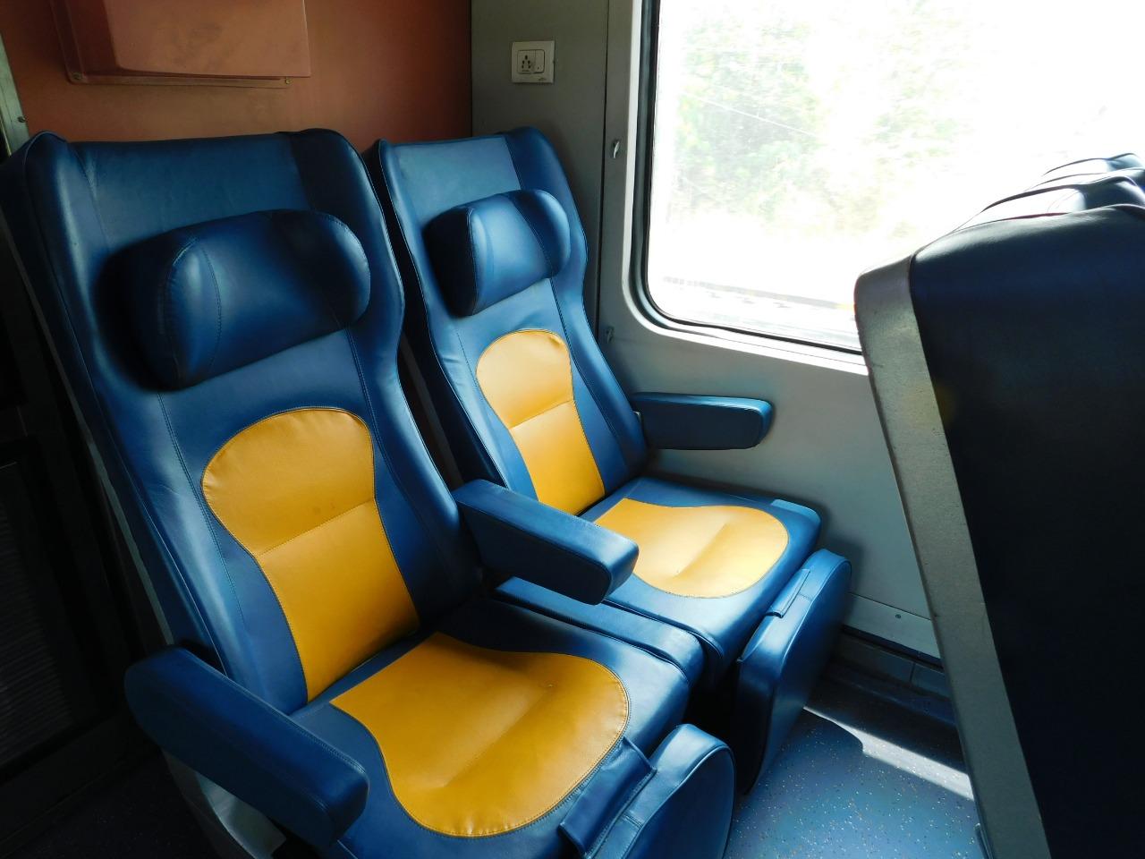 Tejas Express Seating Arrangement